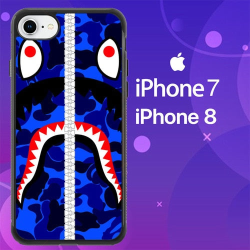 Custodia Cover iphone 7 8 bape shark Z4796 Case