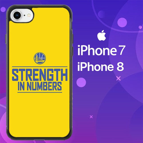 Custodia Cover iphone 7 8 golden state warriors strenght in number playoff Z4828 Case