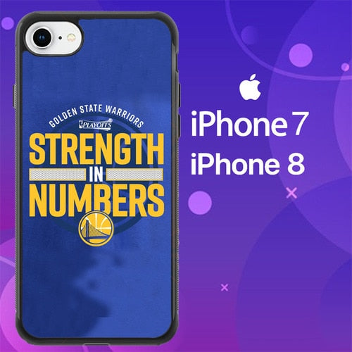 Custodia Cover iphone 7 8 Golden State Warriors NBA Playoof Strength Z4907 Case