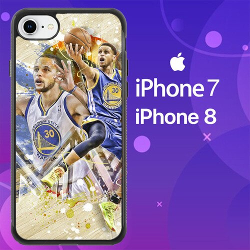 Custodia Cover iphone 7 8 stephen curry golden state warriors MVP Z4922 Case