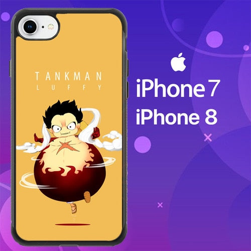 Custodia Cover iphone 7 8 one piece tank man luffy Z4925 Case