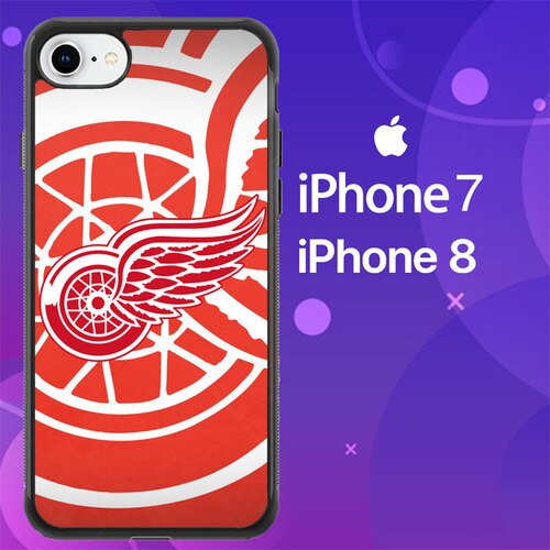 Custodia Cover iphone 7 8 detroit red wings Z4976 Case