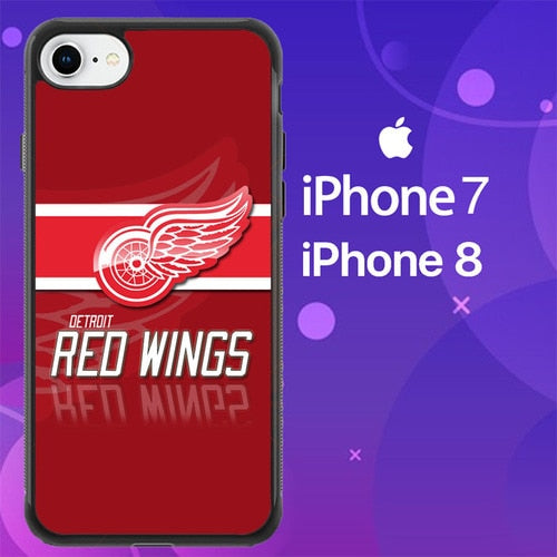 Custodia Cover iphone 7 8 Detroit Red Wings Logo Z4977 Case