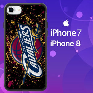 Custodia Cover iphone 7 8 cleveland cavaliers logo Z4790 Case