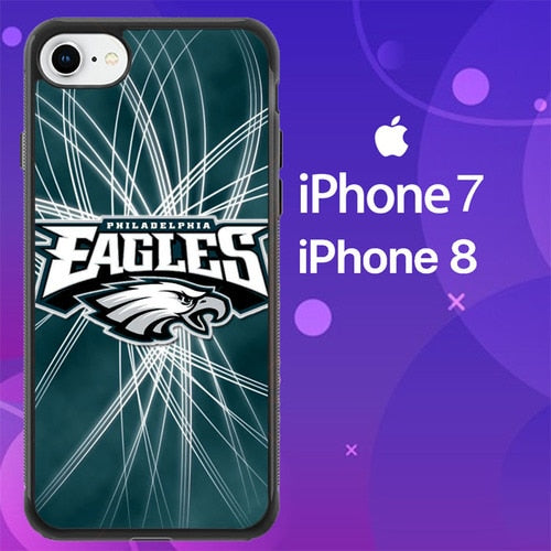 Custodia Cover iphone 7 8 Philadelphia Eagles NFL Logo Z5195 Case