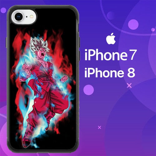 Custodia Cover iphone 7 8 goku super saiyan blue kaioken x10 Z5277 Case