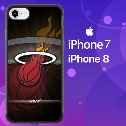 Custodia Cover iphone 7 8 miami heat Z5343 Case