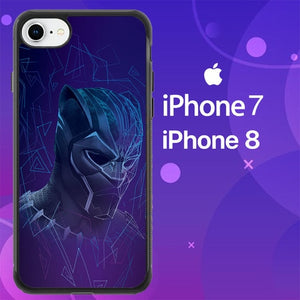 Custodia Cover iphone 7 8 Geometric black panther Z7075 Case