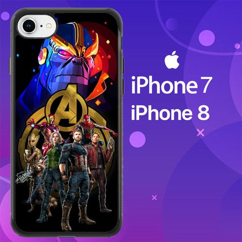 Custodia Cover iphone 7 8 avengers infinity war Z7085 Case