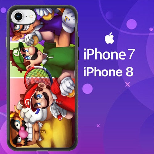 Custodia Cover iphone 7 8 mario mario tennis aces Z7157 Case