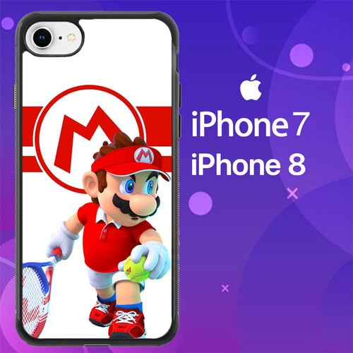 Custodia Cover iphone 7 8 mario mario tennis aces Z7158 Case