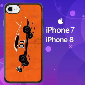 Custodia Cover iphone 7 8 Dukes of Hazzard General Lee Jum Z4698 Case