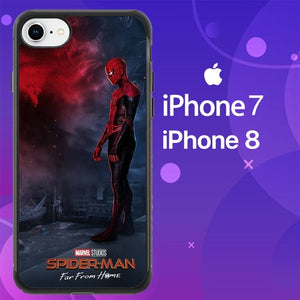 Custodia Cover iphone 7 8 spider man far from home Z4814 Case