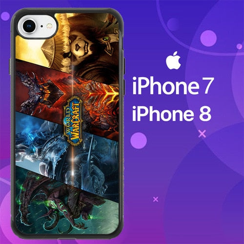 Custodia Cover iphone 7 8 World Of Warcraft Z4850 Case