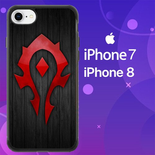 Custodia Cover iphone 7 8 world of warcraft horde logo Z4853 Case