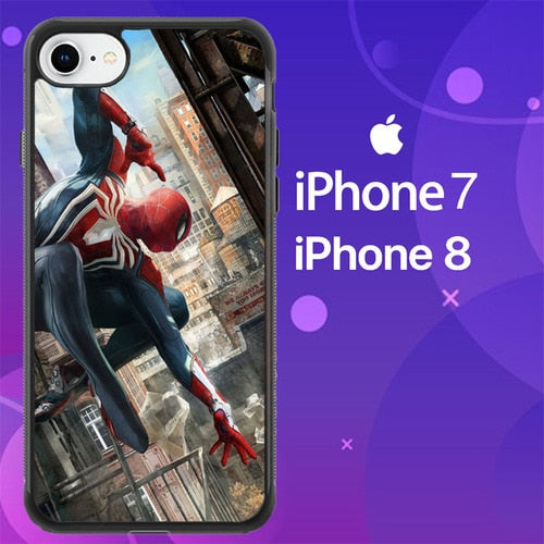 Custodia Cover iphone 7 8 spider man far from home Z4862 Case