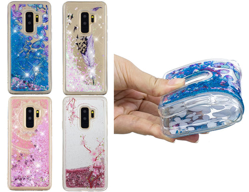 Liquido Glitter Soft Case Cover Shockproof Silicone Per Samsung Galaxy S8  Plus
