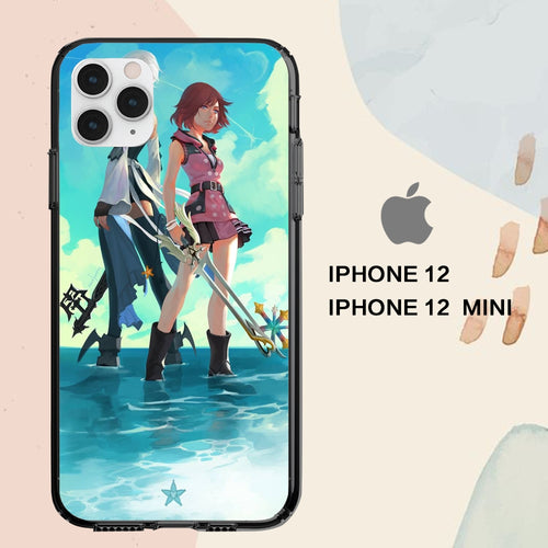 custodia cover iPhone 12 mini pro max case A5070 kingdom hearts aqua wallpaper 78wR2
