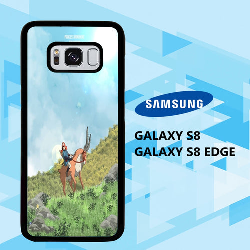 custodia cover samsung galaxy S6 S7 S8 S9 S10 edge case A4014 princess mononoke wallpaper 172pB1