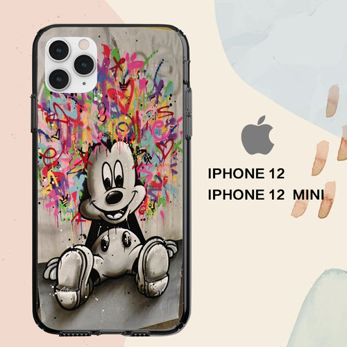 custodia cover iPhone 12 mini pro max case A1077 mickey mouse wallpaper iphone 71jB0
