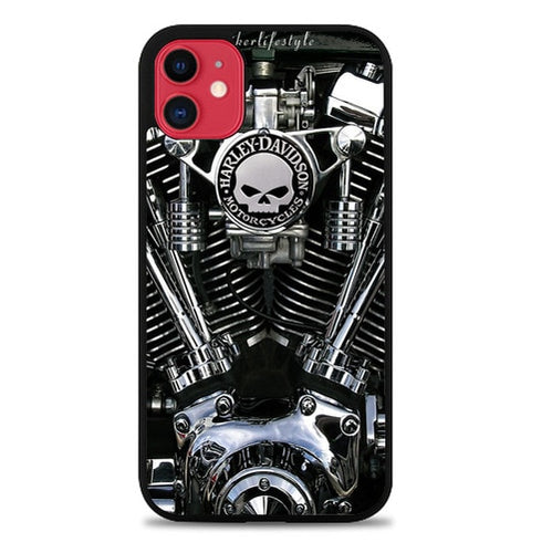 Custodia Cover iphone 11 pro max harley davidson engine X9271 Case