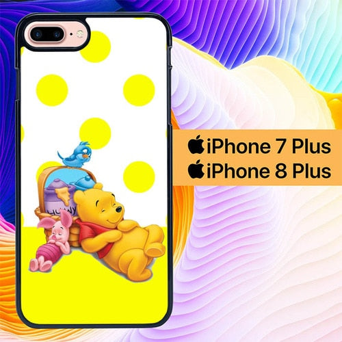 Custodia Cover iphone 7 plus 8 plus winnie the pooh L0016a Case