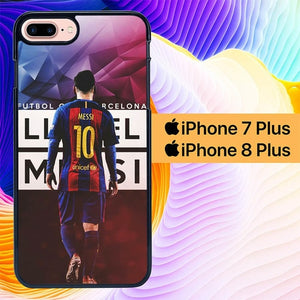 Custodia Cover iphone 7 plus 8 plus Barcelona Messi L0043 Case