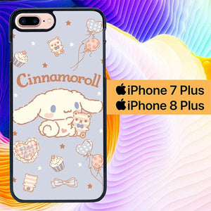 Custodia Cover iphone 7 plus 8 plus Cinnamorol Cute Background 0125 Case