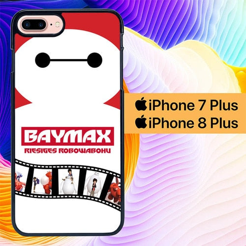 Custodia Cover iphone 7 plus 8 plus baymax hiro L0128 Case