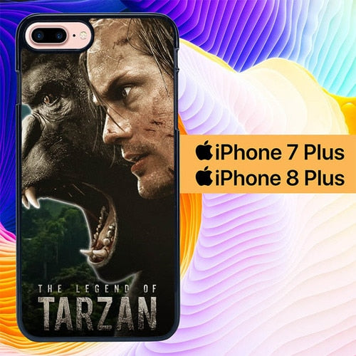 Custodia Cover iphone 7 plus 8 plus the legend of tarzan L0191a Case