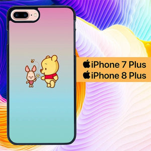 Custodia Cover iphone 7 plus 8 plus Winnie The Pooh And Piglet Simple L0293 Case