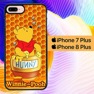 Custodia Cover iphone 7 plus 8 plus winnie the pooh L0361a Case