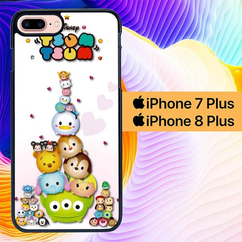 Custodia Cover iphone 7 plus 8 plus Tsum Tsum Disney Character L0453 Case