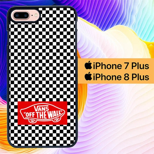 Custodia Cover iphone 7 plus 8 plus Vans Off The Wall Wallpaper L0460 Case
