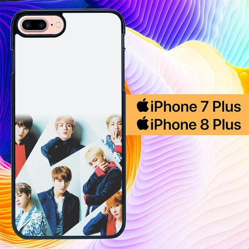 Custodia Cover iphone 7 plus 8 plus BTS Personil Kpop L0483 Case