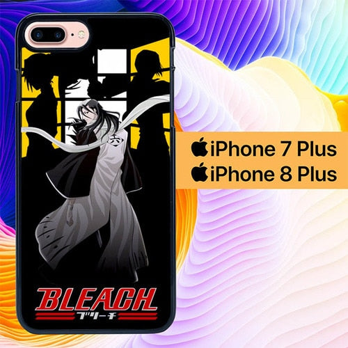 Custodia Cover iphone 7 plus 8 plus bleach byakuya anime L0622a Case
