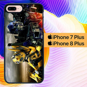 Custodia Cover iphone 7 plus 8 plus transformers bumblebee optimus L0631a Case