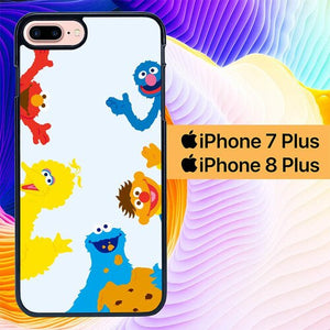 Custodia Cover iphone 7 plus 8 plus The Sesame Street 123 L0732 Case