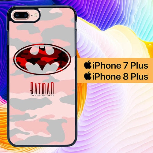Custodia Cover iphone 7 plus 8 plus batman logo army red L1022 Case