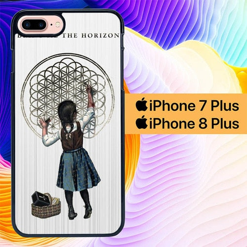Custodia Cover iphone 7 plus 8 plus bring me the horizon girl L1061 Case