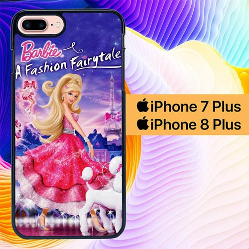 Custodia Cover iphone 7 plus 8 plus barbie a fashion fairytale L1080 Case