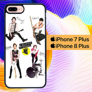 Custodia Cover iphone 7 plus 8 plus 5 Seconds of Summer 5SOS Signatures L1085 Case