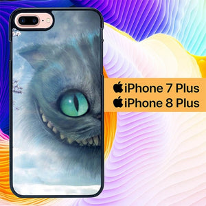 Custodia Cover iphone 7 plus 8 plus Alice In Wonderland Cat L1196 Case