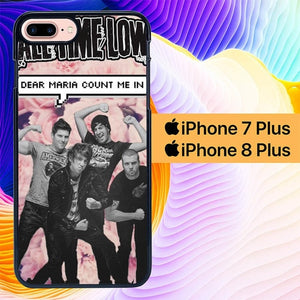 Custodia Cover iphone 7 plus 8 plus All Time Low Dear Maria L1206 Case