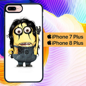 Custodia Cover iphone 7 plus 8 plus Alice Cooper Minion L1331 Case