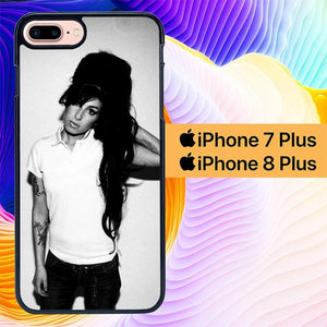 Custodia Cover iphone 7 plus 8 plus Amy Winehouse Grain L1352 Case
