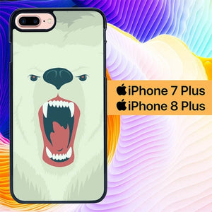Custodia Cover iphone 7 plus 8 plus Angry Bear L1365 Case