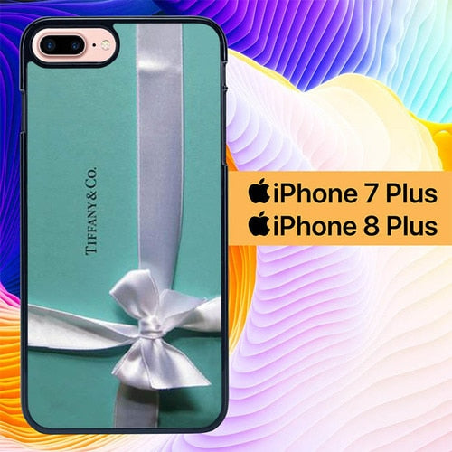 Custodia Cover iphone 7 plus 8 plus Tiffany Teal Blue Box L1859 Case