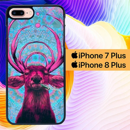 Custodia Cover iphone 7 plus 8 plus Bassnectar Deer L1870 Case