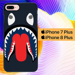 Custodia Cover iphone 7 plus 8 plus Bape Shark Dizzy L1975 Case